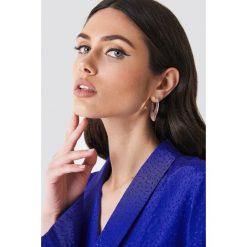 Kolczyki damskie: NA-KD Accessories Kolczyki płaskie – Silver