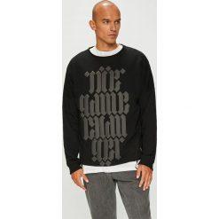 Answear - Bluza Manifest Your Style Be The Game Changer. Czarne bluzy męskie rozpinane marki ANSWEAR, l, z nadrukiem, z dzianiny, bez kaptura. W wyprzedaży za 149,90 zł.