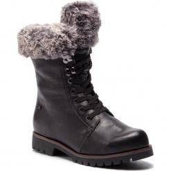Trapery CAPRICE - 9-26215-21 Black Ant. Nap 023. Czarne buty zimowe damskie Caprice, z materiału. W wyprzedaży za 259,00 zł.