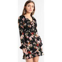 Sukienki hiszpanki: Missguided Petite FLORAL PRINT FRILL DETAIL TEA DRESS Sukienka letnia black