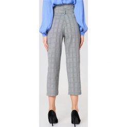 Spodnie z wysokim stanem: Just Female Spodnie Edith – Grey,Multicolor