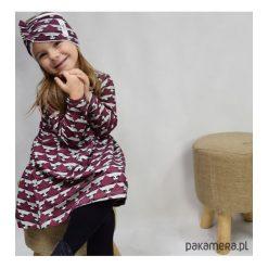 Sukienka raccoon. Szare sukienki dziewczęce z falbanami Pakamera, w geometryczne wzory. Za 67,00 zł.