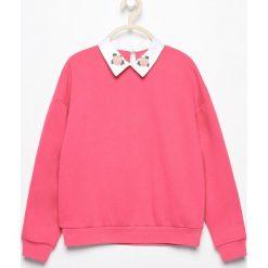 Bluzy dziewczęce: Bluza z białym kołnierzem - Różowy