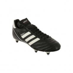 Buty do piłki nożnej Kaiser Cup SG korki. Czarne buty skate męskie Adidas, ze skóry, do piłki nożnej. Za 249,99 zł.