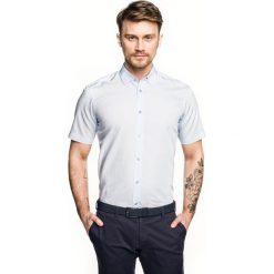 Koszula bexley 2626 krótki rękaw custom fit niebieski. Niebieskie koszule męskie Recman, m, z krótkim rękawem. Za 109,00 zł.
