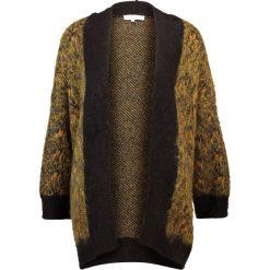 Swetry damskie: Selected Femme SFMALINE  Kardigan golden brown/black/dark navy