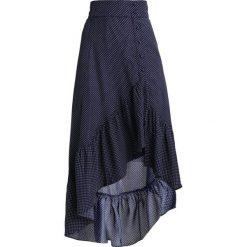 Długie spódnice: Lost Ink Petite POLKA SKIRT Długa spódnica dark blue