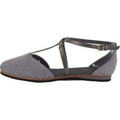 """Sandały damskie: Skórzane sandały """"Merida"""" w kolorze jasnoszarym"""