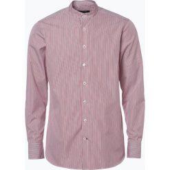 OLYMP SIGNATURE - Koszula męska – Sanremo C, czerwony. Czerwone koszule męskie na spinki OLYMP SIGNATURE, m, w paski, z bawełny. Za 379,95 zł.