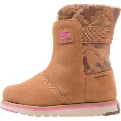 Buty zimowe damskie: Sorel RYLEE CAMO Śniegowce elk/pink ice