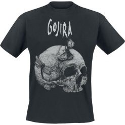 T-shirty męskie z nadrukiem: Gojira Moth Skull T-Shirt czarny