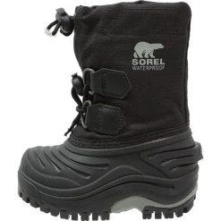 Sorel SUPER TROOPER Śniegowce black. Czarne buty zimowe damskie marki Sorel, z materiału. W wyprzedaży za 269,10 zł.