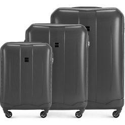 Zestaw walizek 56-3A-37S-00. Szare walizki marki Wittchen, z gumy. Za 499,41 zł.