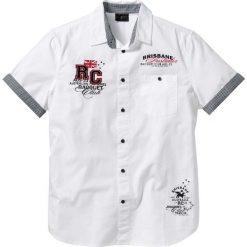 Koszula z krótkim rękawem bonprix biały. Białe koszule męskie marki bonprix, z klasycznym kołnierzykiem, z długim rękawem. Za 74,99 zł.