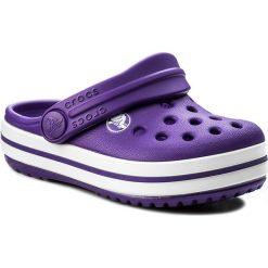Klapki CROCS - Crocband Clog K 204537 Ultraviolet/White. Różowe klapki chłopięce marki Crocs, z materiału. W wyprzedaży za 119,00 zł.