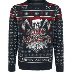 Swetry klasyczne męskie: Amon Amarth EMP Signature Collection Sweter z dzianiny czarny