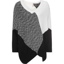 Swetry klasyczne damskie: Sweter bonprix czarno-biel wełny
