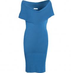 Niebieska Sukienka Shallowly. Niebieskie sukienki dzianinowe marki Born2be, uniwersalny. Za 14,99 zł.