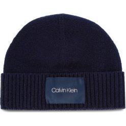 Czapka CALVIN KLEIN - Cuff Beanie K50K504093 448. Niebieskie czapki męskie marki Calvin Klein, z materiału. Za 179,00 zł.