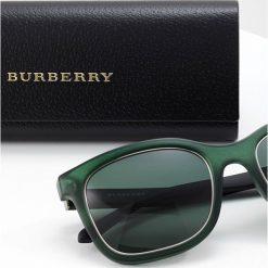 Burberry Okulary przeciwsłoneczne green. Czarne okulary przeciwsłoneczne damskie lenonki marki Burberry. Za 739,00 zł.
