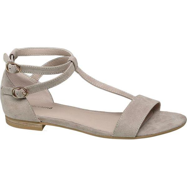 7faede4082637 sandały damskie Graceland popielate - Szare sandały damskie ...