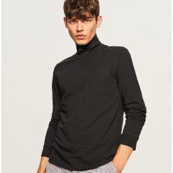 Bluza z golfem - Czarny. Czarne bluzy męskie rozpinane marki Reserved, l. W wyprzedaży za 39,99 zł.