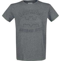 Batman Logo T-Shirt odcienie szarego. Szare t-shirty męskie marki Batman, l, z aplikacjami, z okrągłym kołnierzem. Za 99,90 zł.