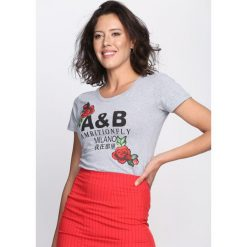 T-shirty damskie: Szary T-shirt Strength of Mind