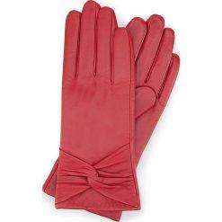 Rękawiczki damskie 39-6-572-2T. Czerwone rękawiczki damskie Wittchen. Za 99,00 zł.
