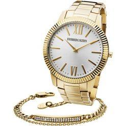 Bransoletki damskie: Zestaw w kolorze złotym – zegarek, bransoletka