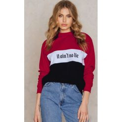 Bluzy damskie: NA-KD Trend Bluza It Ain't No Lie - Black,Red,Multicolor