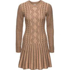 Sukienki: Sukienka dzianinowa bonprix jasnobrązowy