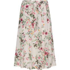 Spódnica z paskiem bonprix beżowy z nadrukiem. Brązowe spódniczki bonprix, na lato, z nadrukiem. Za 59,99 zł.