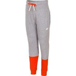 Spodnie chłopięce: Spodnie dresowe dla małych chłopców JSPMD115 – chłodny jasny szary