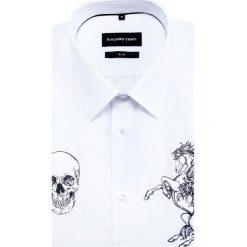 Koszula SIMONE KDBS000387. Białe koszule męskie na spinki marki INESIS, m, z bawełny, z długim rękawem. Za 259,00 zł.