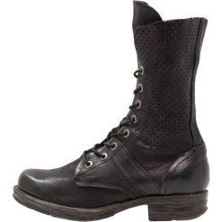 Buty zimowe damskie: A.S.98 Kozaki sznurowane nero