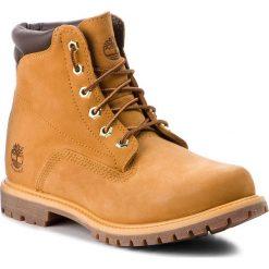 Trapery TIMBERLAND - Waterville 6 In Basic  8168R/TB08168R2311 Wheat. Żółte buty zimowe damskie marki Timberland, z materiału. W wyprzedaży za 569,00 zł.