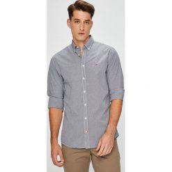 Tommy Hilfiger - Koszula. Szare koszule męskie na spinki TOMMY HILFIGER, l, w kratkę, z bawełny, button down, z długim rękawem. Za 269,90 zł.