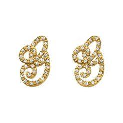 Biżuteria i zegarki: Kolczyki w kolorze złotym