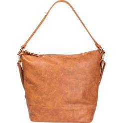 Torebka na ramię bonprix koniakowy. Brązowe torebki klasyczne damskie marki ARTENGO, z materiału. Za 109,99 zł.