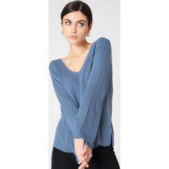 Swetry klasyczne damskie: Rut&Circle Sweter Vendela – Blue
