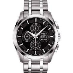 PROMOCJA ZEGAREK TISSOT Couturier Chronograph Valjoux T035.614.11.0. Czarne zegarki męskie marki TISSOT, ze stali. W wyprzedaży za 4972,00 zł.