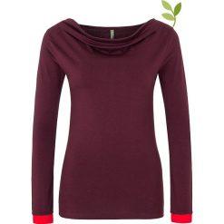 """Bluzki asymetryczne: Koszulka """"Golda"""" w kolorze ciemnofioletowym"""