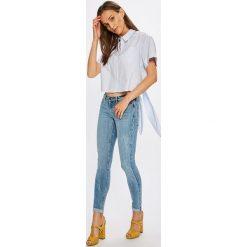 Noisy May - Jeansy. Niebieskie jeansy damskie rurki marki Noisy May, z bawełny, z obniżonym stanem. W wyprzedaży za 129,90 zł.