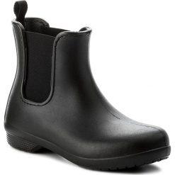 Kalosze CROCS - Freesail Chelsea Boot W 204630 Black/Black. Różowe buty zimowe damskie marki Crocs, z materiału. W wyprzedaży za 169,00 zł.