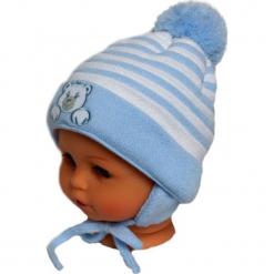 Czapka niemowlęca z szalikiem CZ+S 010C. Niebieskie czapeczki niemowlęce Proman. Za 36,70 zł.