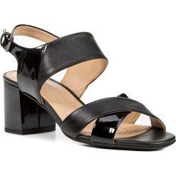 """Rzymianki damskie: Sandały """"Audalies"""" w kolorze czarnym"""
