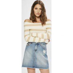 Tommy Jeans - Sweter. Szare swetry klasyczne damskie Tommy Jeans, l, z bawełny. W wyprzedaży za 319,90 zł.