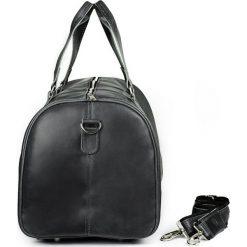 CORTEZ Grafitowa męska torba ze skóry Podróżna smooth leather. Szare torby na ramię męskie marki Brødrene, ze skóry, duże. Za 750,00 zł.