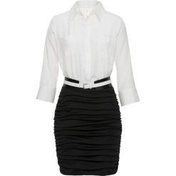 Sukienki: Sukienka biznesowa bonprix biało-czarny